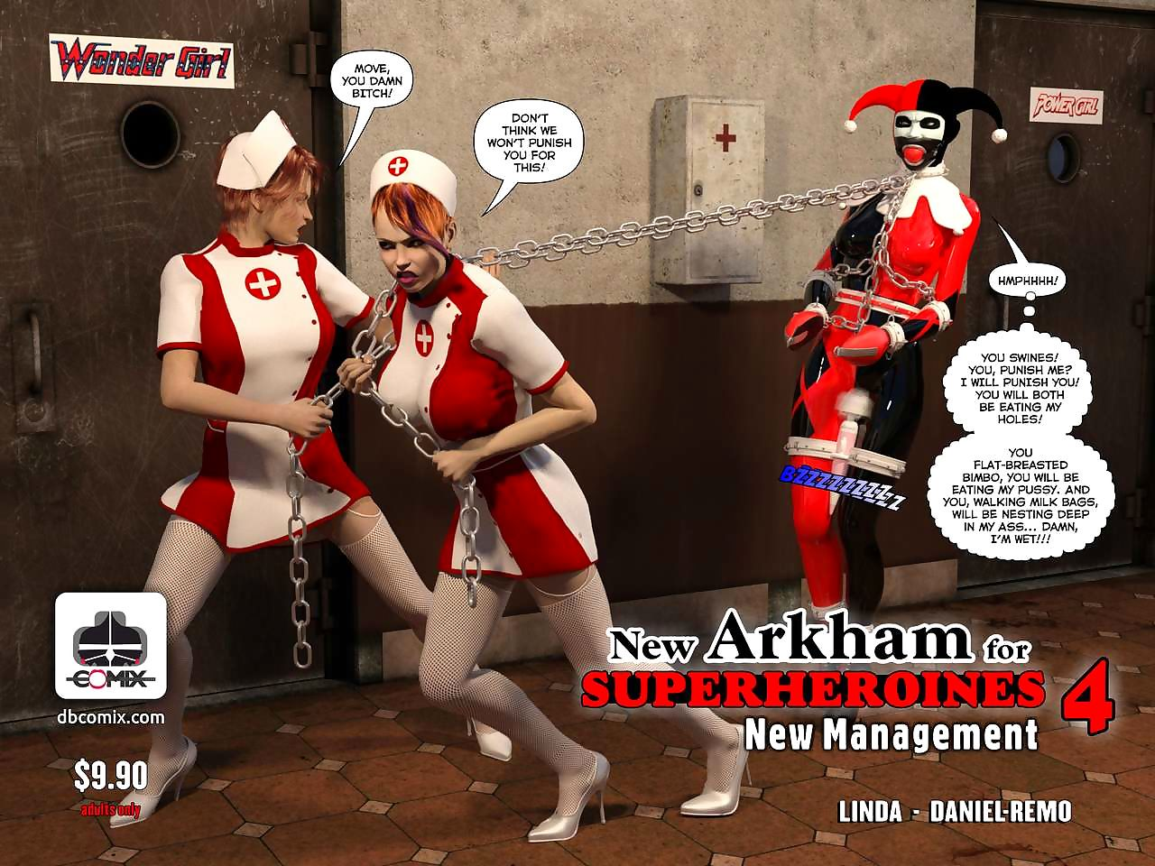 Way-out Arkham be useful to Superheroines 4 - Way-out Administration