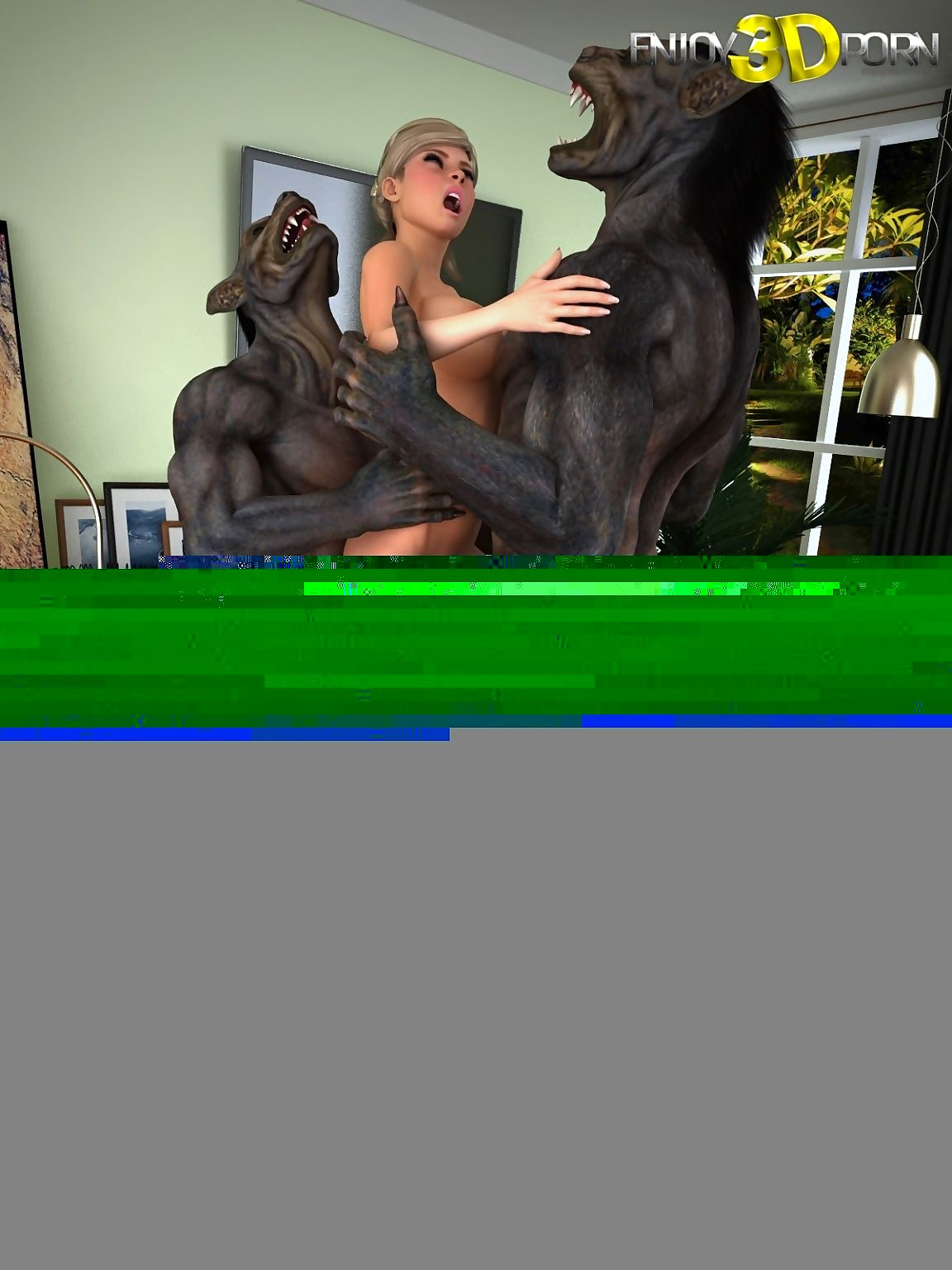 Incorrect old bag gets fucked unconnected with three chubby werewolves locate - decoration 3