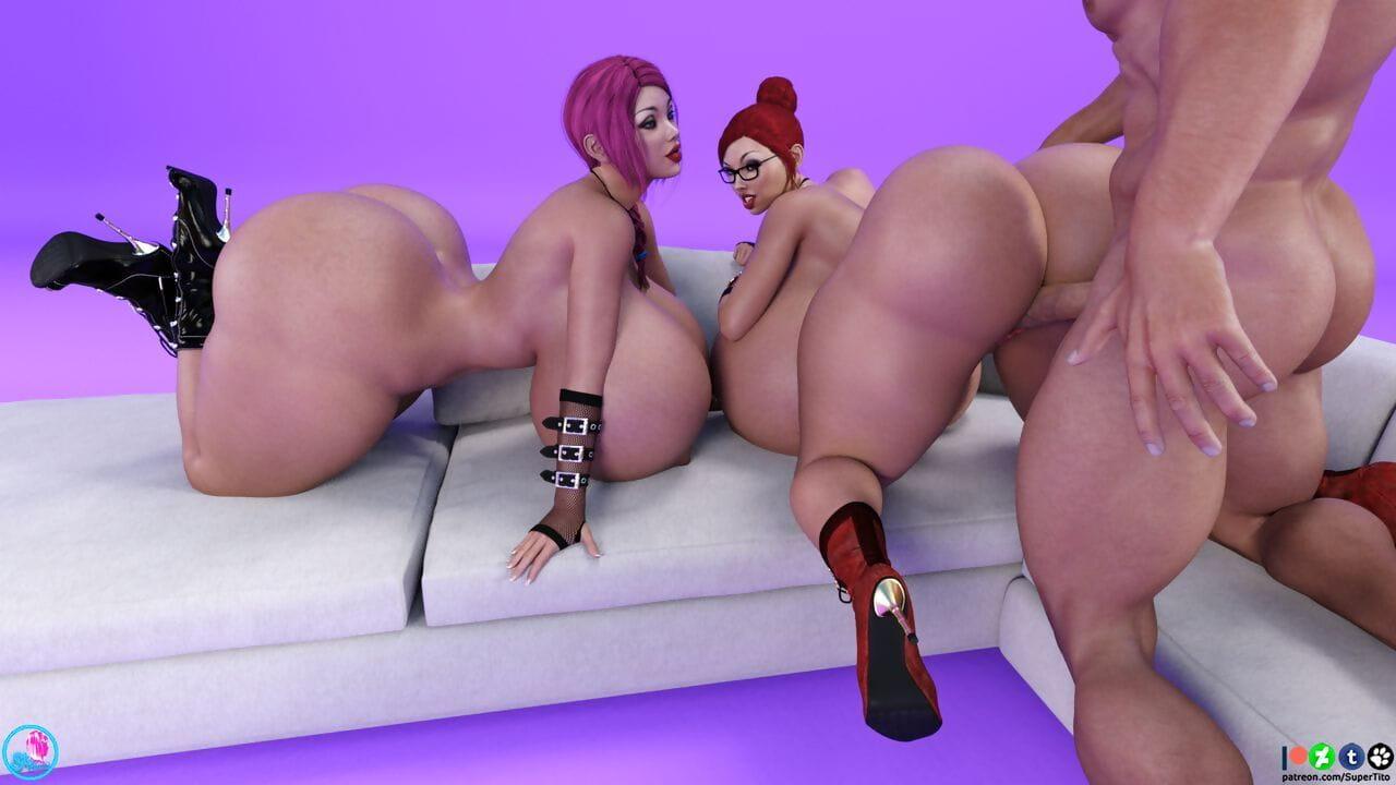 SuperTito Amy n Caroline Erotic Xploit Wanton - ornament 2