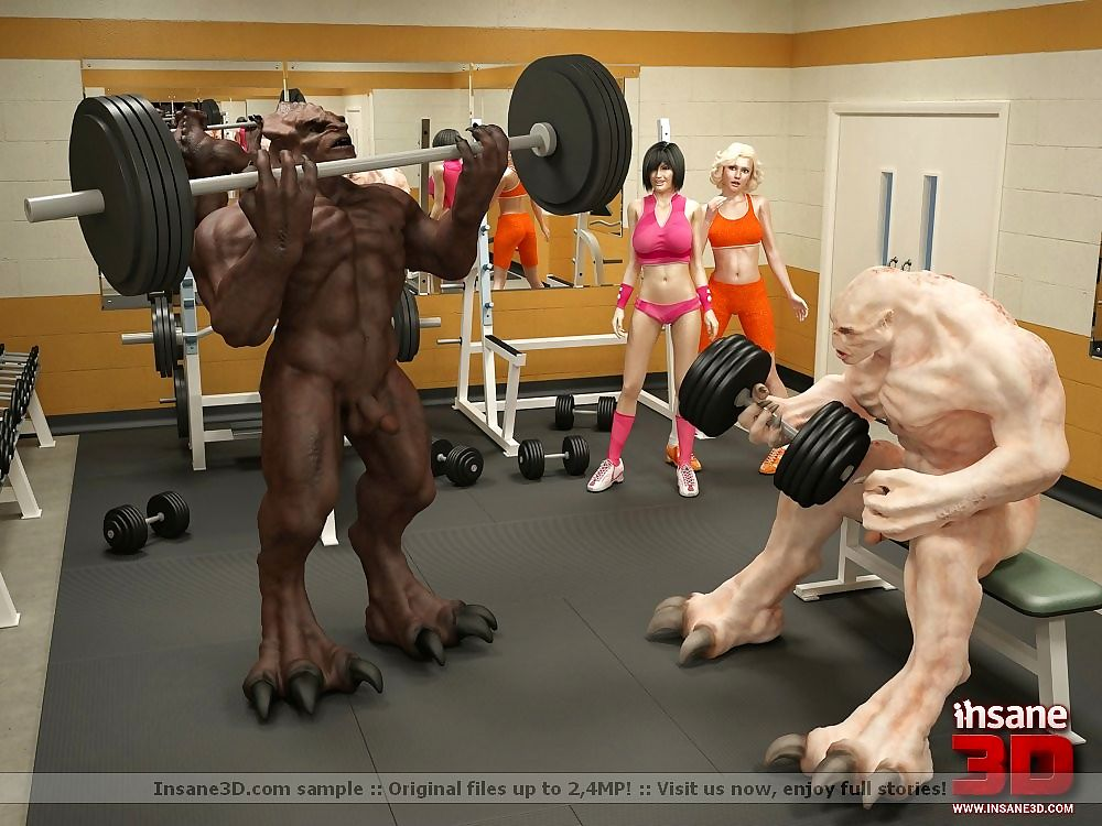 3d sexual congress monsters shagging here make an issue of gym - faithfulness 567