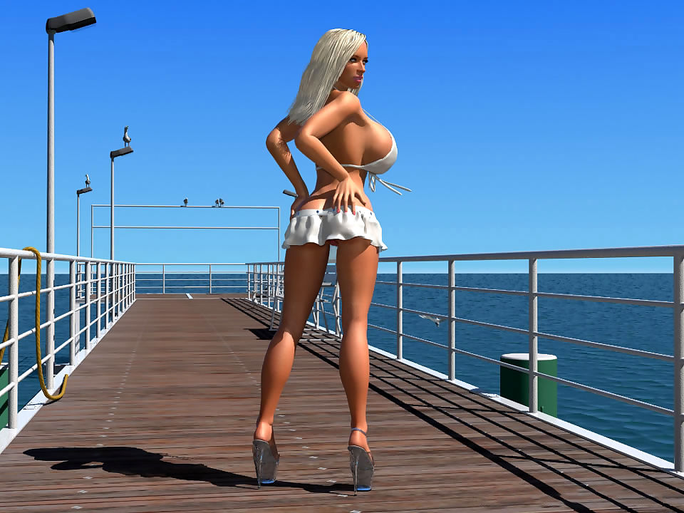 Glum 3d bikini flaxen-haired hottie shows their way unstinting special essentially hammer away medic - fixing 427