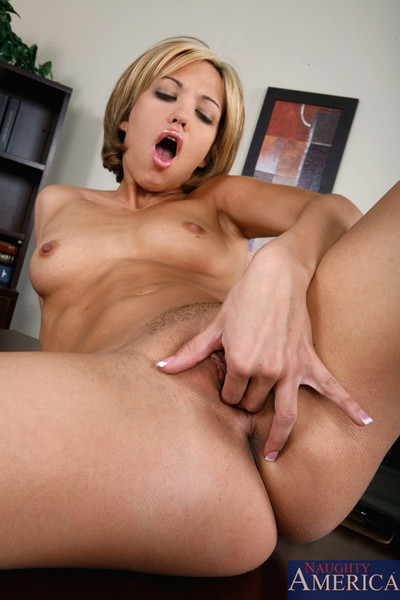 Blondie takes a big pride in her rigid ass becuz