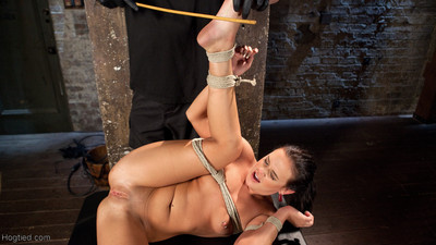 Rope slaving that makes her helpless and vulnerable to the sadistic requires of t