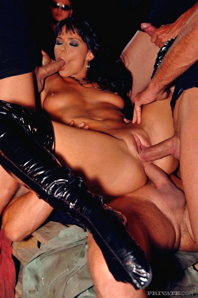 Group hardcore fucking one dirty slut in all holes