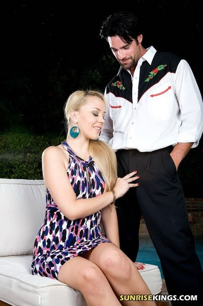 Blond busty annete schwarz acquires screwed by the pool