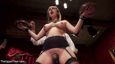 Spectacular submissive newbie aidra fox is presented to a bdsm munch entire of kinky