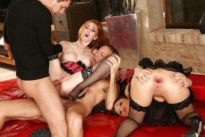 Double ace fuck of tow pornstars linda sweet and dominica ph