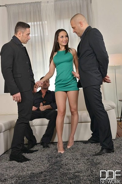 Four studs dualistic penetrate brunette russian prostitute kristall rush