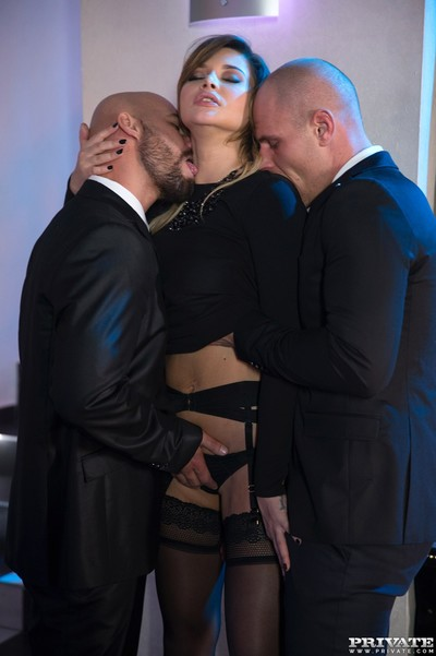 Rough dp for perky russian floozy anna polina in threesome sex pi