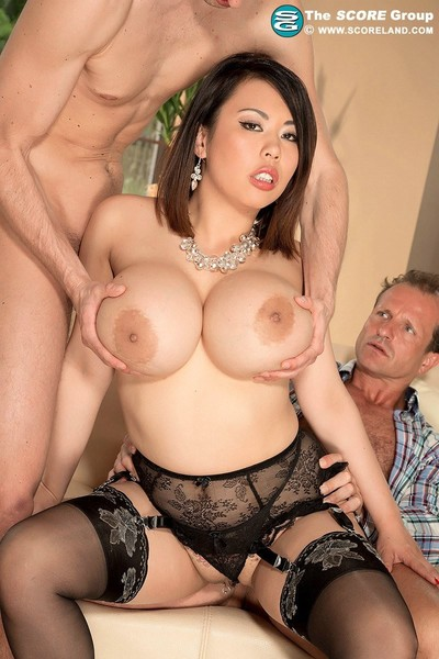 Oriental pornstar tigerr benson gets dp anal superfuck