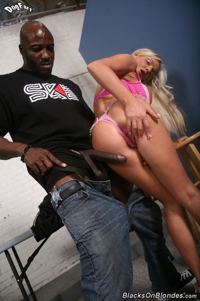 Boobsy blonde jordan pryce in interracial anal fuck