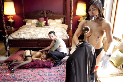 When house servant mia li breaks the rules, the master of the house takes gabriell