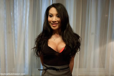 Very sexy asa akira gains attached up and fucked by two kinky guys