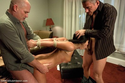 Extreme hottie gets tied up, dominated and hard drilled in bondage
