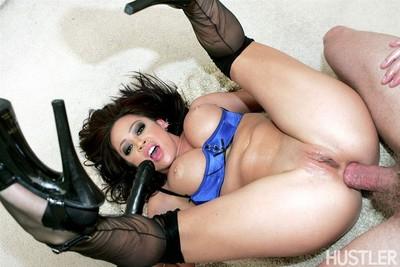 Mia lelani gets ass stuffed with dick in black stockings