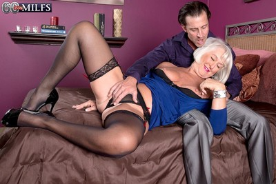 Granny jeannie loves to feel unyielding knob deep in her anus