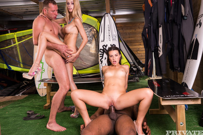 Hardcore group sex with as one of their boyfriends