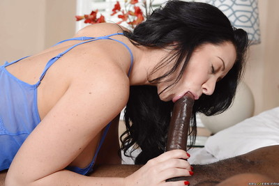 Gorgeous milf gets her jaw and love holes compressed with two blac