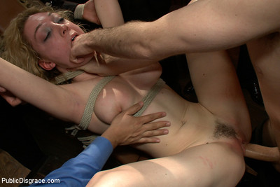 Alluring 20 year old blonde screwed and degraded !!!