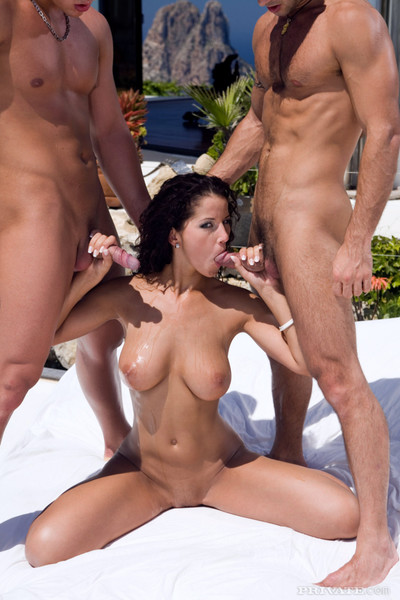 Angel dark group-bonked in ibiza sexual act party