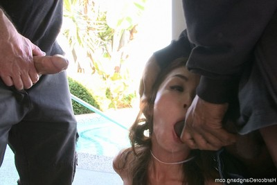 Hardcore orgy with the oriental trade student  two fucking one raw copulation