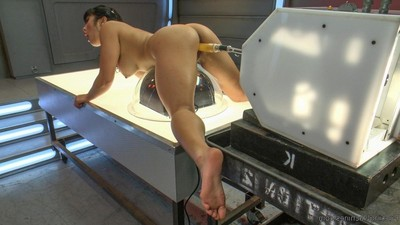 Exactly after astonishingly seven - yep seven - machines, suction cups on her tits, marital-aids