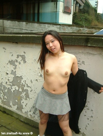 Its a capital day out for delightful Japanese exhibitionist koko lee