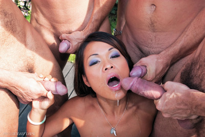 Chinese floozy jade sin group-fucked in all holes