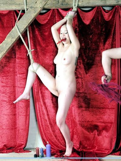 Japanese kumis subjection and boobs bondage of smooth head burning slavegirl in extraordinary puni