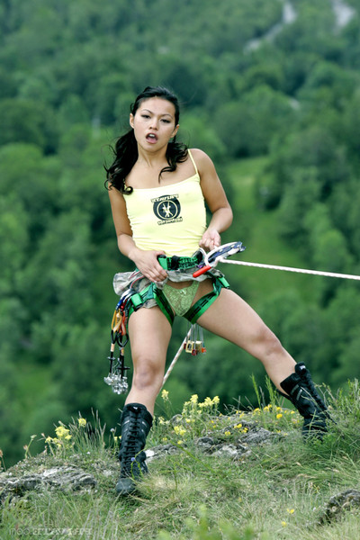 Adventure sports and act of love with concupiscent Chinese pornstar lady mai