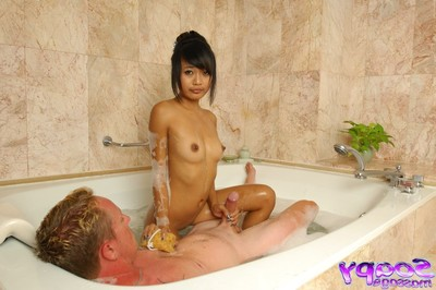 Soapy eastern massage with hardcore