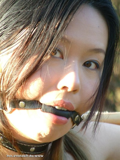 Outdoor Japanese subordination and naked public japanese obsession of tige