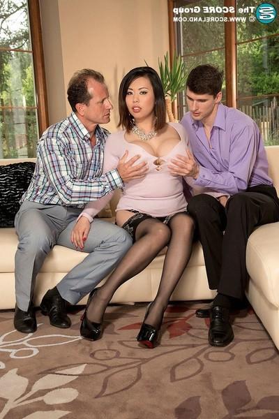 Oriental pornstar tigerr benson accepts dp anal superfuck