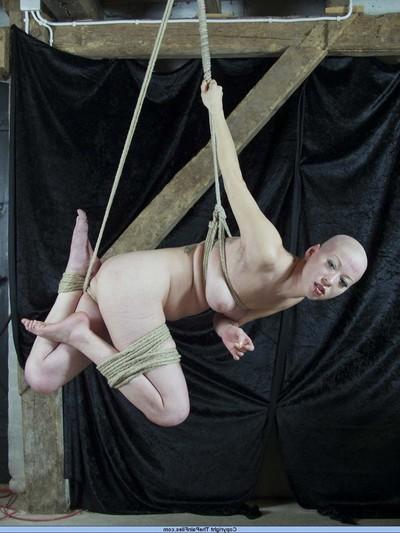 Suspension subjugation and breast fastened hanging of japanese infatuation illustration kumimonster