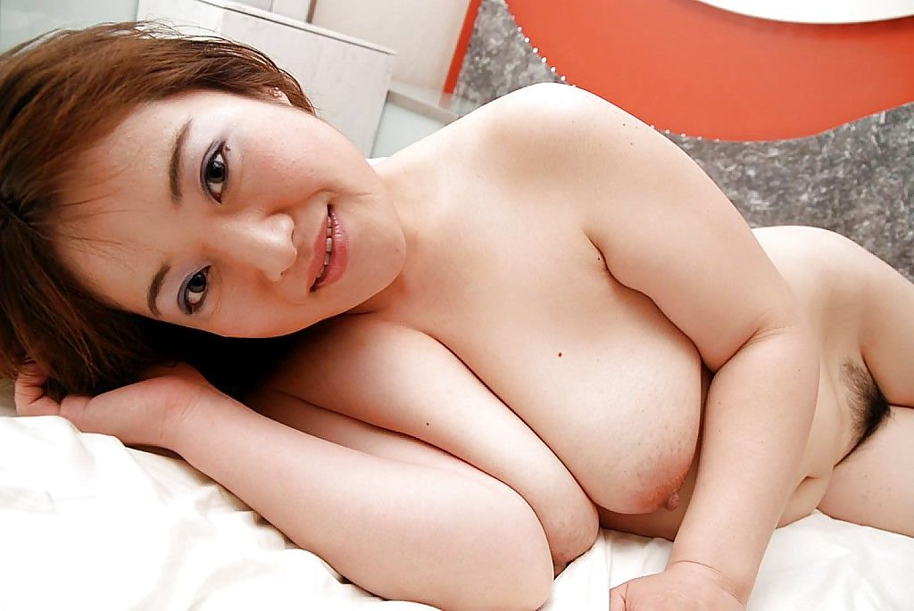 Fatty Chinese babe Keiko Etou undressing and showcasing her unshaven gash