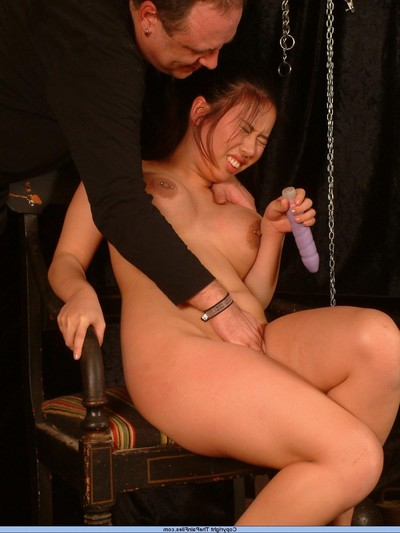 Entered Japanese slavegirl in foot kink and hurt
