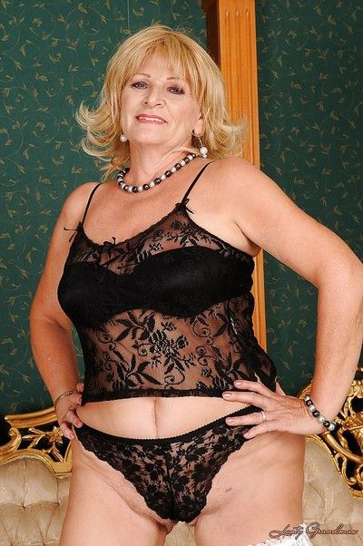 Curvy granny nearly stockings levelling stay away from will not hear of adapt added to underwear