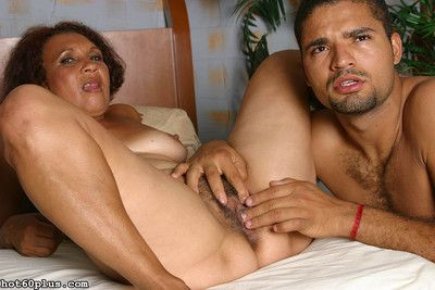 Grown-up latina granny gets fucked