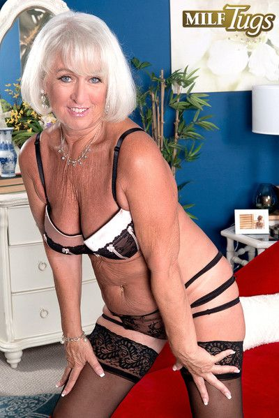 Big-busted granny milf jeannie lou adjacent to thing