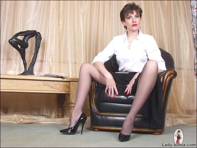 Out in the open crotch camiknickers added to holdups throbbing feet dominate milf nipper sonia