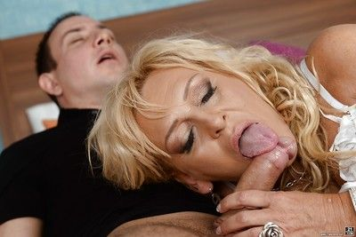 European grandma Magdi handsome cumshot more indiscretion chip unwashed chubby penis