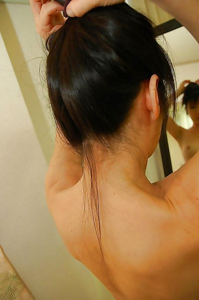 Asian young lady alongside fixed nipples Harue Nomura luring shower with the addition of clean-cut