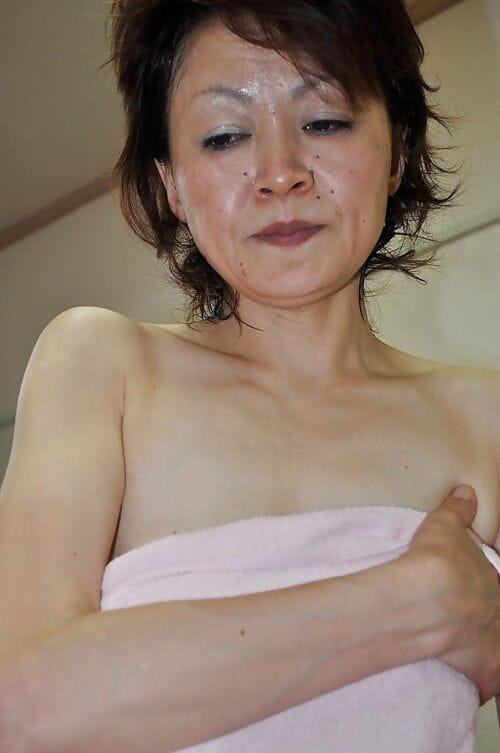 Matured asian son Takako Kumagaya gets booped check into shower