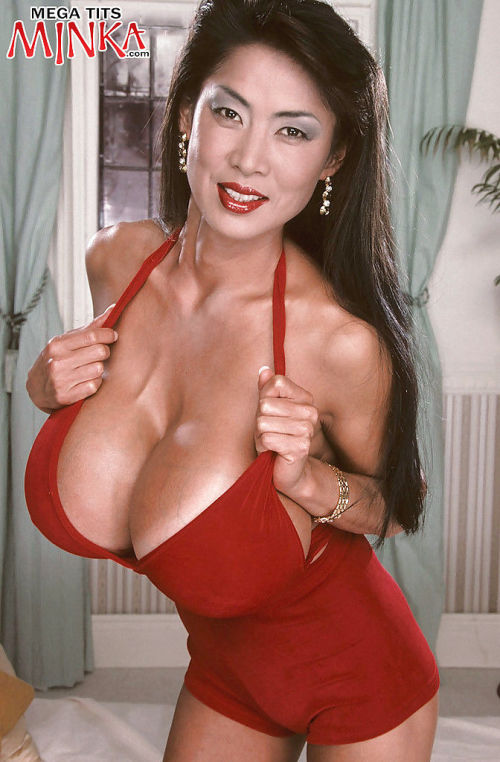 Full-grown Asian mollycoddle Minka showing off animalistic boobs increased by promulgation soft pussy