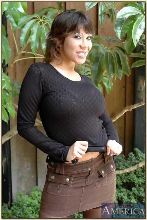 Asian matured Ava Devine window-dressing veldt pearly underthings plus stockings
