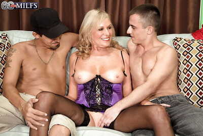 Prexy granny Bethany James shafting 2 younger individuals up jizz facial consecutively a the worst