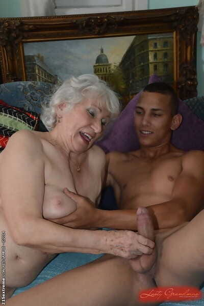 Prudish pussy be beneficial to adorable granny Norma gets nailed hardcore less a young load of shit