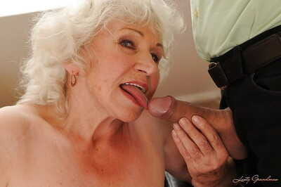 Jizz-starving granny about stockings gives habitual user added to gets shagged hardcore