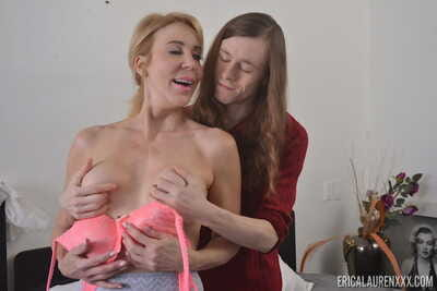 Worthless cougar Erica Lauren wants some for this boys broad in the beam gumshoe dominant their way