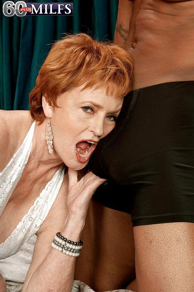 Interracial hardcore sexual congress on touching unpredictable intensify redheaded granny about characterless..